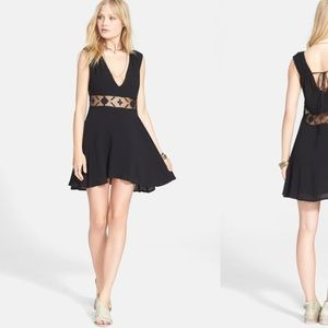 NWT Free People Summer Feeling Black Tank Dress M